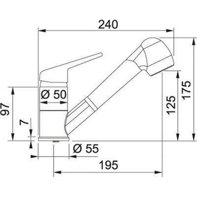 Baterie FC 9547.071 onyx/chrom