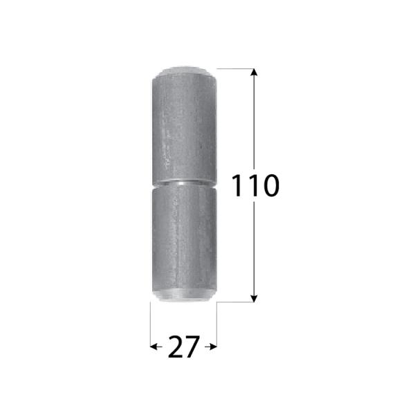 ZTK 27 Závěs k přivaření s kuličkou 27x110 1