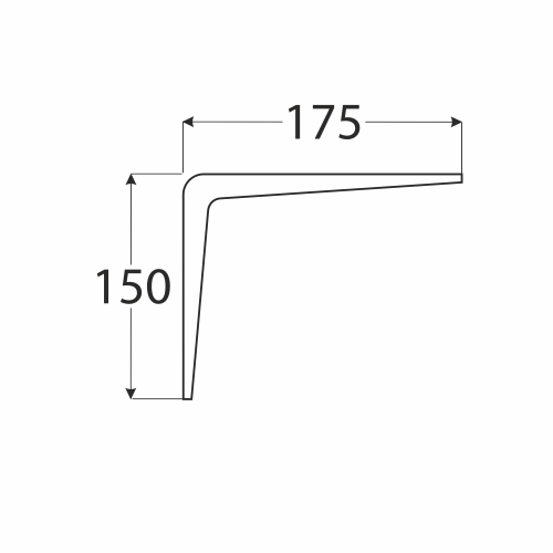 WS 175 konzole stavební bílá 150x175 1
