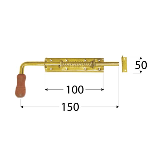WSP 150 Zástrč pružinová s dřev. koncovkou 150x50 mm 1