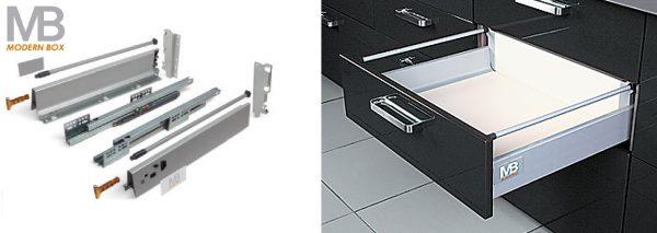 Modern box B 160/400mm + reling střední šedý 1