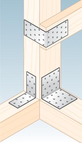 KM1 - úhelník montážní 40x40x40x2,0 mm 2