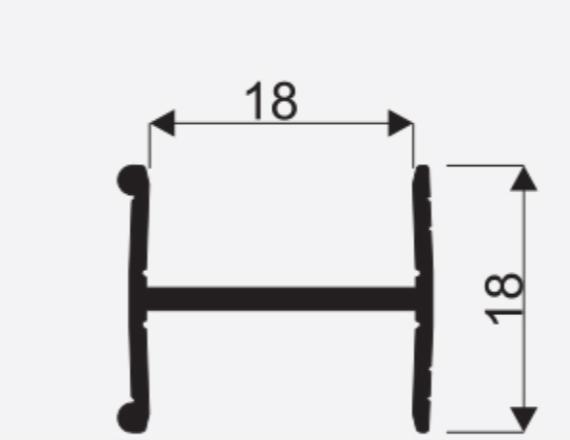 Spojovaci lista H18mm oliva 3m 1