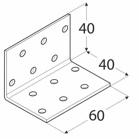 KM2 - úhelník montážní 40x40x60x2,0 mm 1