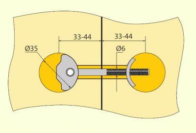 Spoj. sr. na PD ZIPBOLT 35x81mm