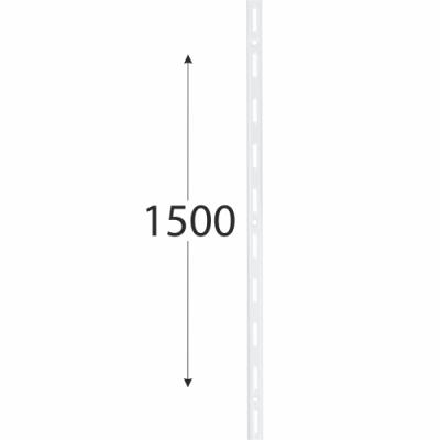 WLS 1500b nosná konzolová lišta jednoduchá 1500 mm bílá