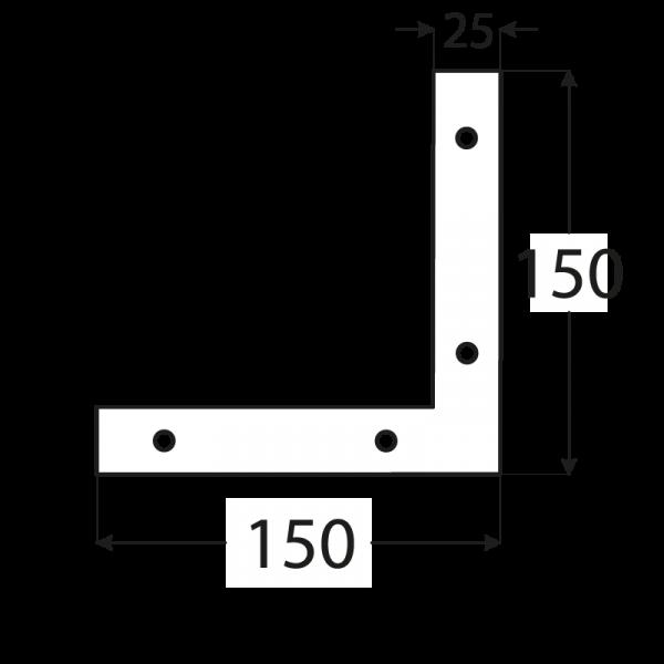 NA1 - rohovnik 150x150x25x2,5 mm 1