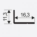 Uhelnik Mini 11*17mm stř. 00104 3.0m 2
