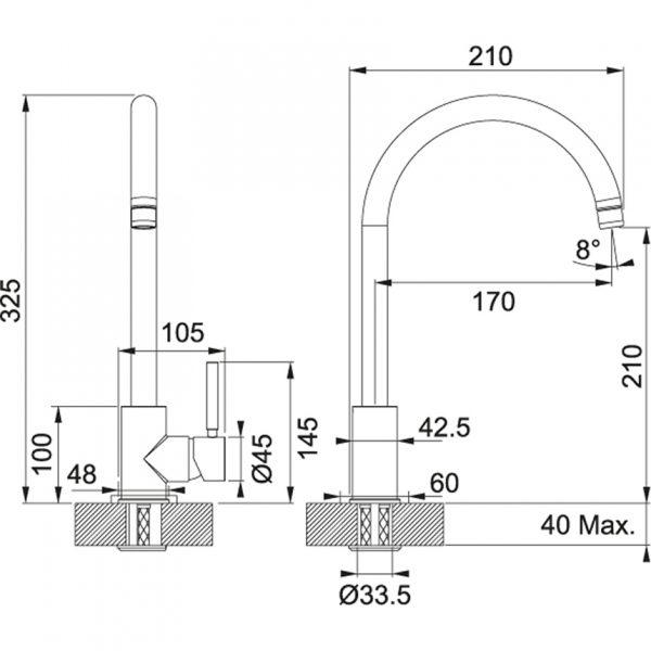 Baterie FC 650 chrom 2