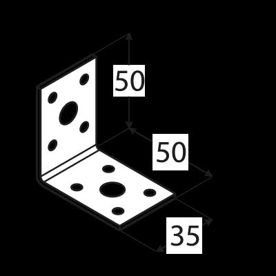 KL1 – úhelník spojovací 50x50x35x2,5 mm