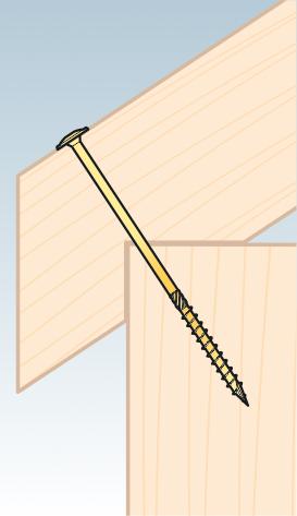 CS 45050 tesařský vrut se zapuštěnou hlavou 4,5x50 200kus/bal 2