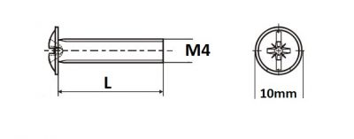 Sr.okrasny M4 x 22