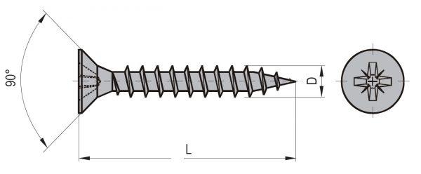 Vrut uni ZH 3,5 x 12 (1000ks/bal) 1