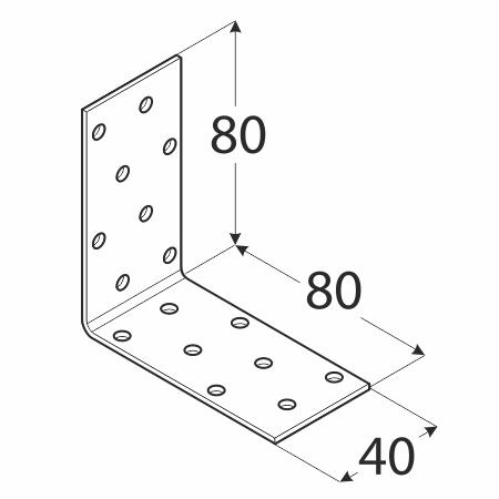 KM7 - úhelník montážní 80x80x40x2,0 mm 1