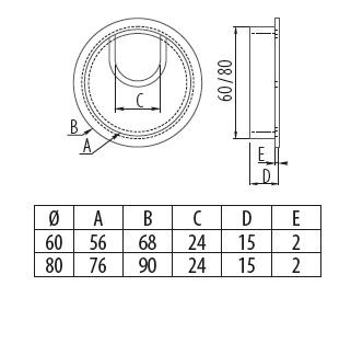 Pruchodka kab. hliník 60mm