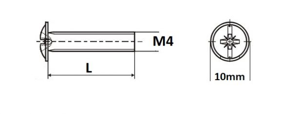 Sr.okrasny M4 x 45 2