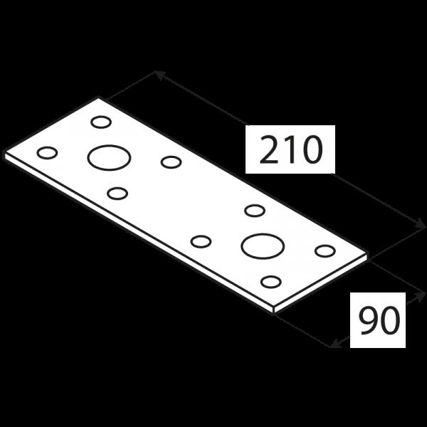 LP6 - spojka plochá 210x90x2,5 mm 1