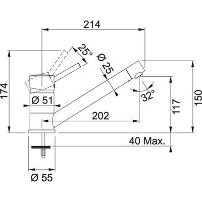 Baterie FG 7477.085 pískový melír/chrom