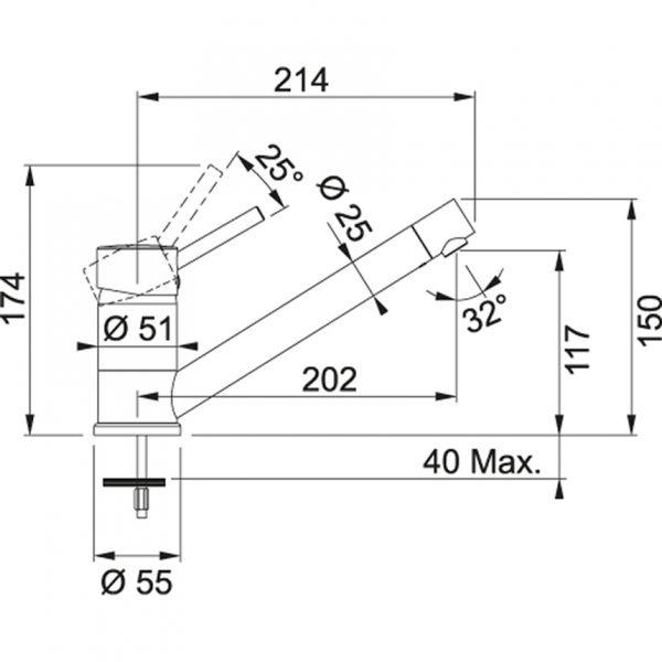 Baterie FG 7477.085 pískový melír/chrom 2