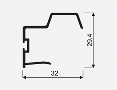 Madlo S UNIVERSAL stř.18mm, délka 2,7m