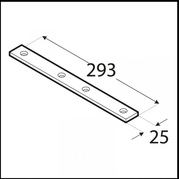 LW7 - spojka úzká 293x25x5,0 mm 1