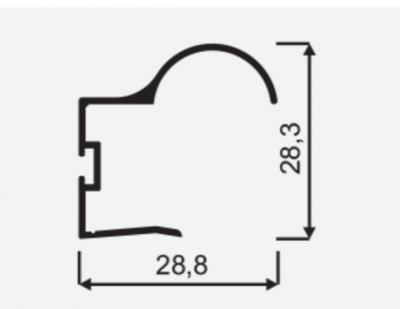 Madlo S Focus II 18mm oliva nasouvací 04571, délka 2,7m