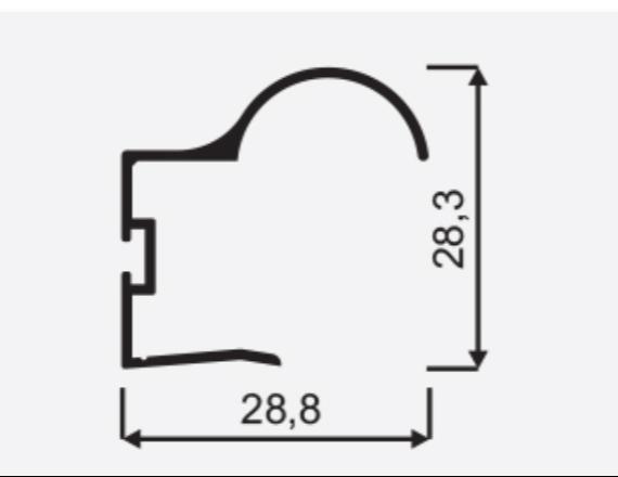 Madlo S Focus II 18mm oliva nasouvací 04571, délka 2,7m 1