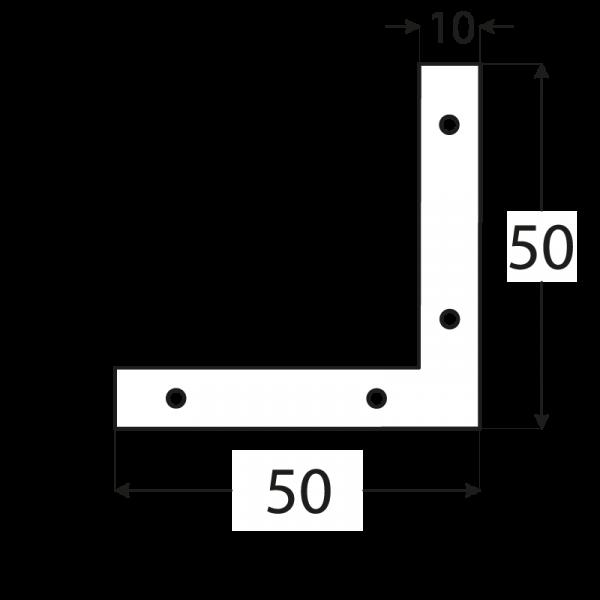 NA5 - rohovnik 50x50x10x2,0 mm 1