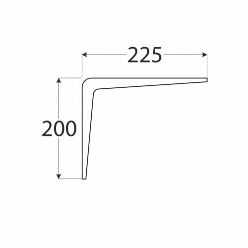 WS 225 BR 2 konzole stavební hnědá 200x225 1
