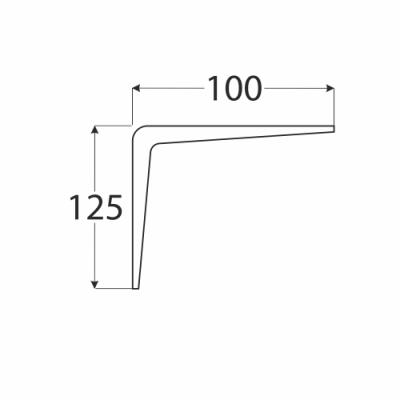 WS 125  konzole stavební bílá  100×125