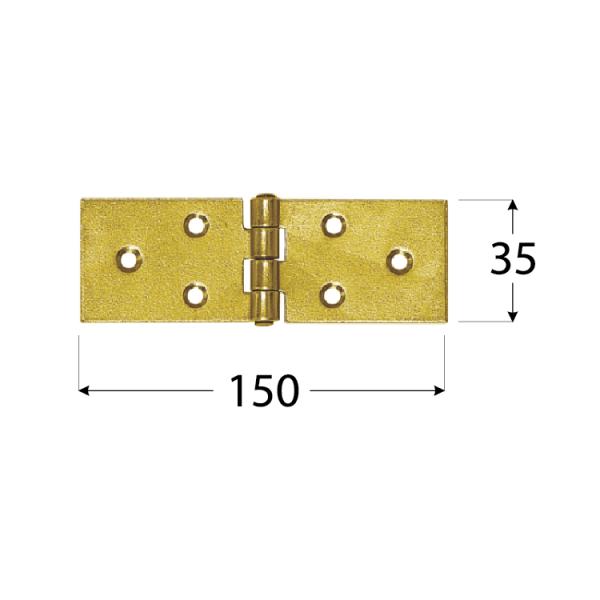Z 150 b Závěs stavební 150x35x1,5 mm 1