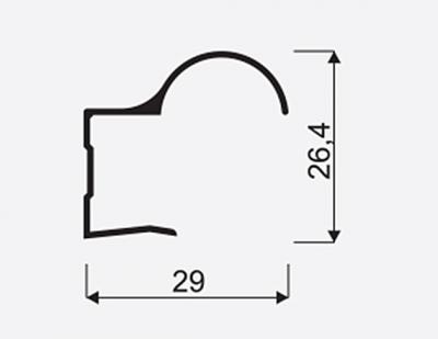 Madlo S Focus II 16mm oliva nasouvací 03839, délka 2,7m