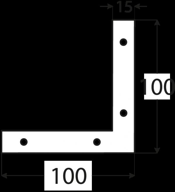 NA8 - rohovnik 100x100x15x2,0 mm 1