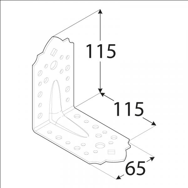 SDSKP 1 Úhelník C 115x115x65x2,5 2