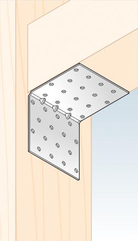 KMP 9 - úhelník montážní s prolisem 80x80x80x1,5 mm 2