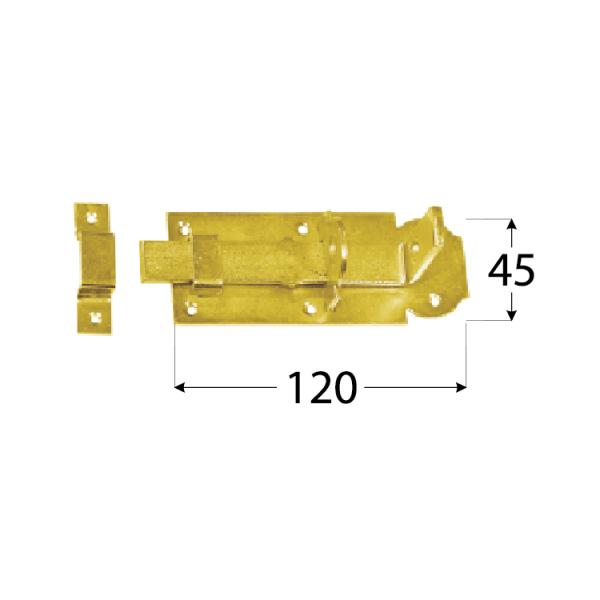 WZP 120 Zástrč zamykací rovná 120x45x5,0 mm 1