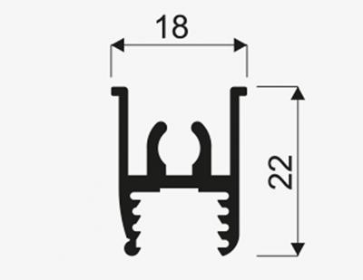 Horni ved. horizontalni 3m stř.02914