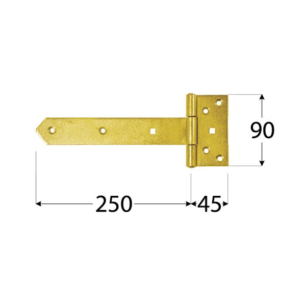 ZB 250 Závěs brankový 250x45x90x35x3,0 mm 1