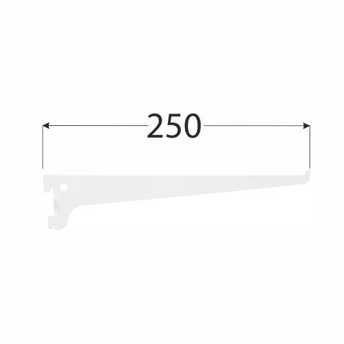 WSS 250b systémová konzola jednoduchá 250 mm bílá 1