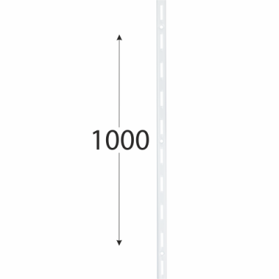 WLS 1000b nosná konzolová lišta jednoduchá 1000 mm bílá