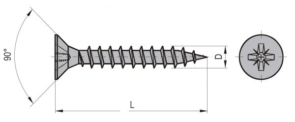 Vrut uni ZH 5 x 45 (500ks/bal) 1