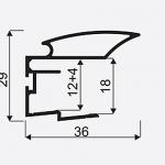 Madlo S ALFA II 16/18mm střibrna nasouvací 04530, délka 2,7m 1