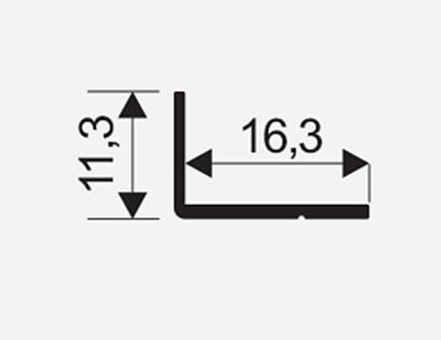 Uhelnik Mini 11*17mm stř. 00103 2,35m