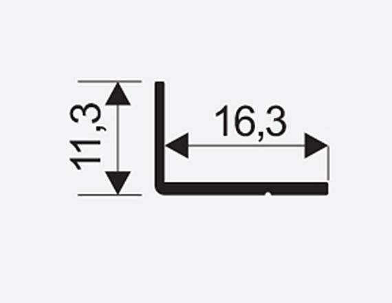 Uhelnik Mini 11*17mm stř. 00103 2,35m 1