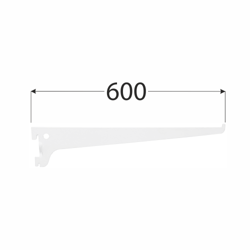 WSS 600b systémová konzola jednoduchá 600 mm bílá 1