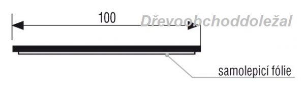 Okopový plech 100mm Nat OP100/Nat 1