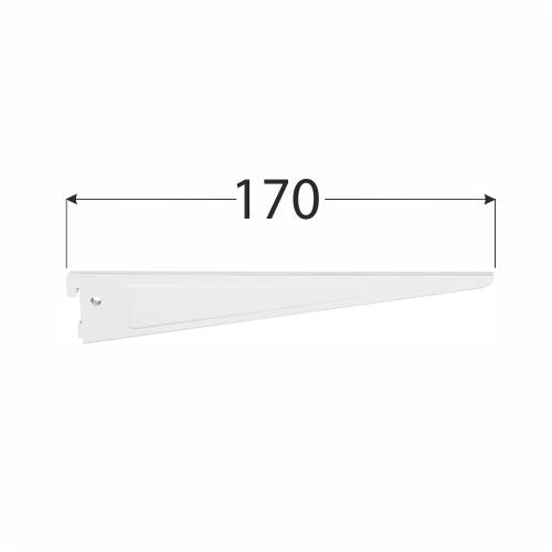 WSD 170b systémová konzola dvojitá 170 mm bílá 1