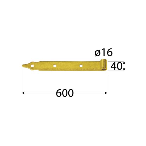 ZP 600 d 16 Závěs pásový 600x40/5,0 d 16 mm 1