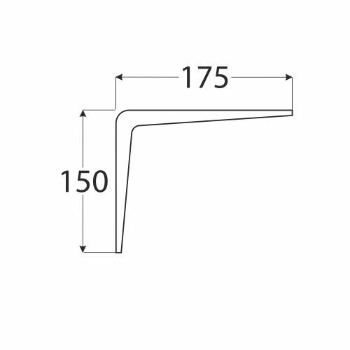 WS 175 BR  konzole stavební hnědá  150x175 1