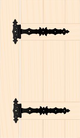 ZBD 300 C Závěs brankový ozdobný 300x45x90x3,0 mm černý 2